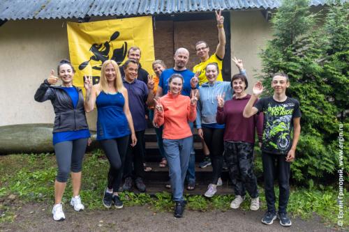 Все участники 2-го интенсив-курса по эскимосскому перевороту в Лосево-2021