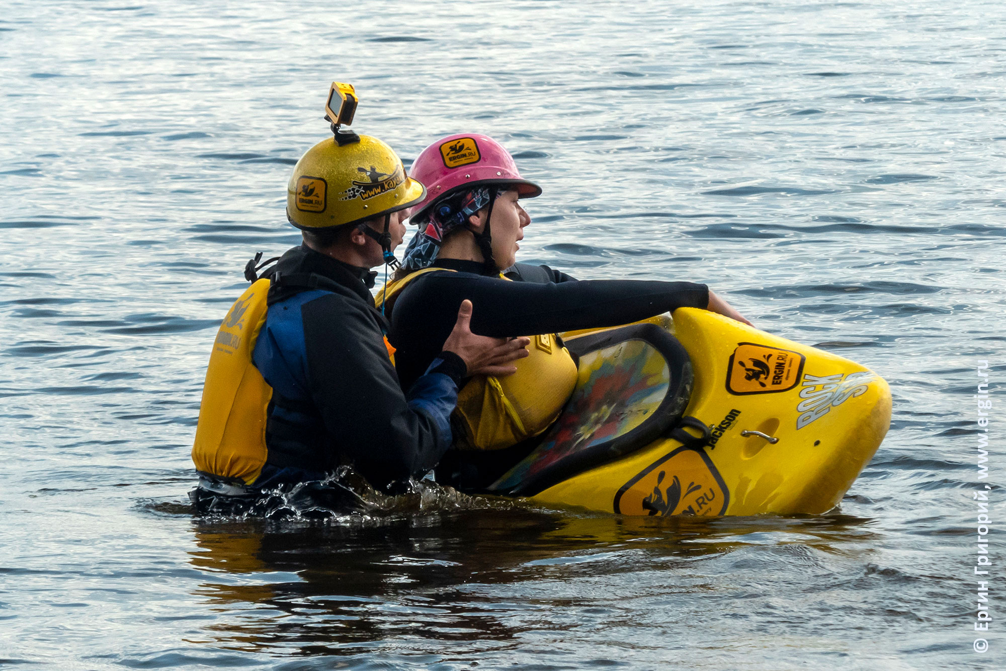 Тренировка по эскимосскому перевороту с инструктором