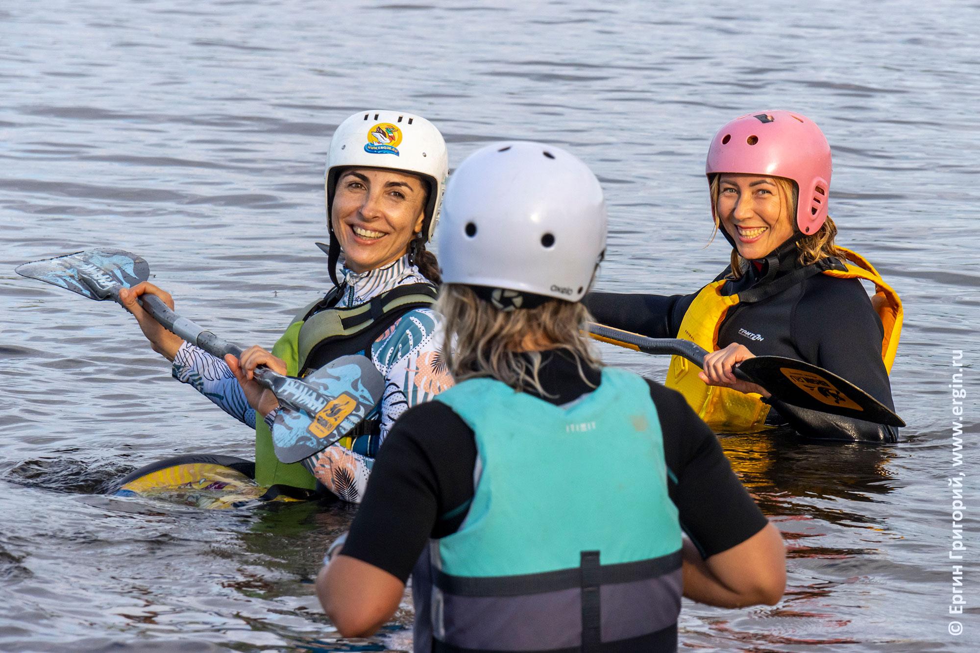 Упражнения без каяков для выполнения опор веслами