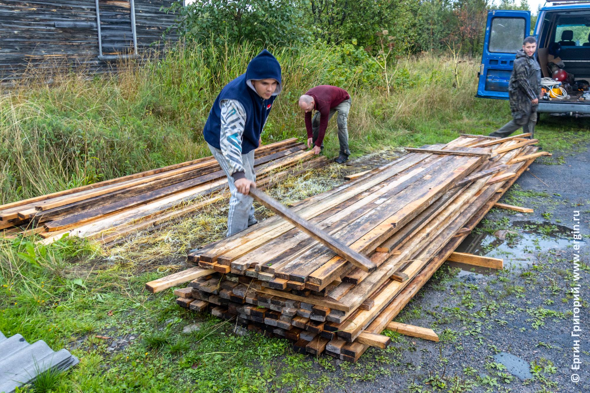 Доски для ремонта строений в Тивдии