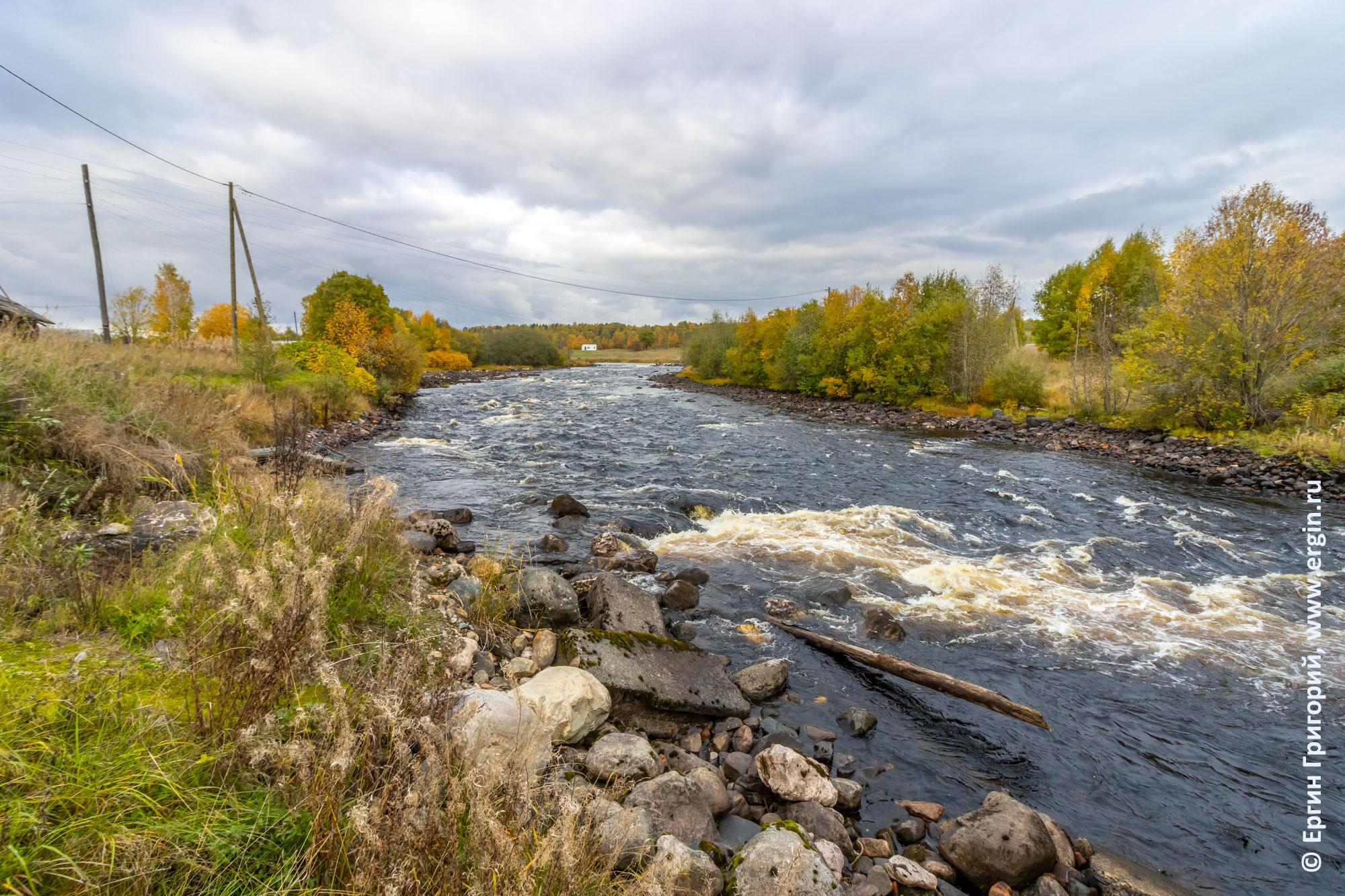 Осень в Карелии, река Тивдийка