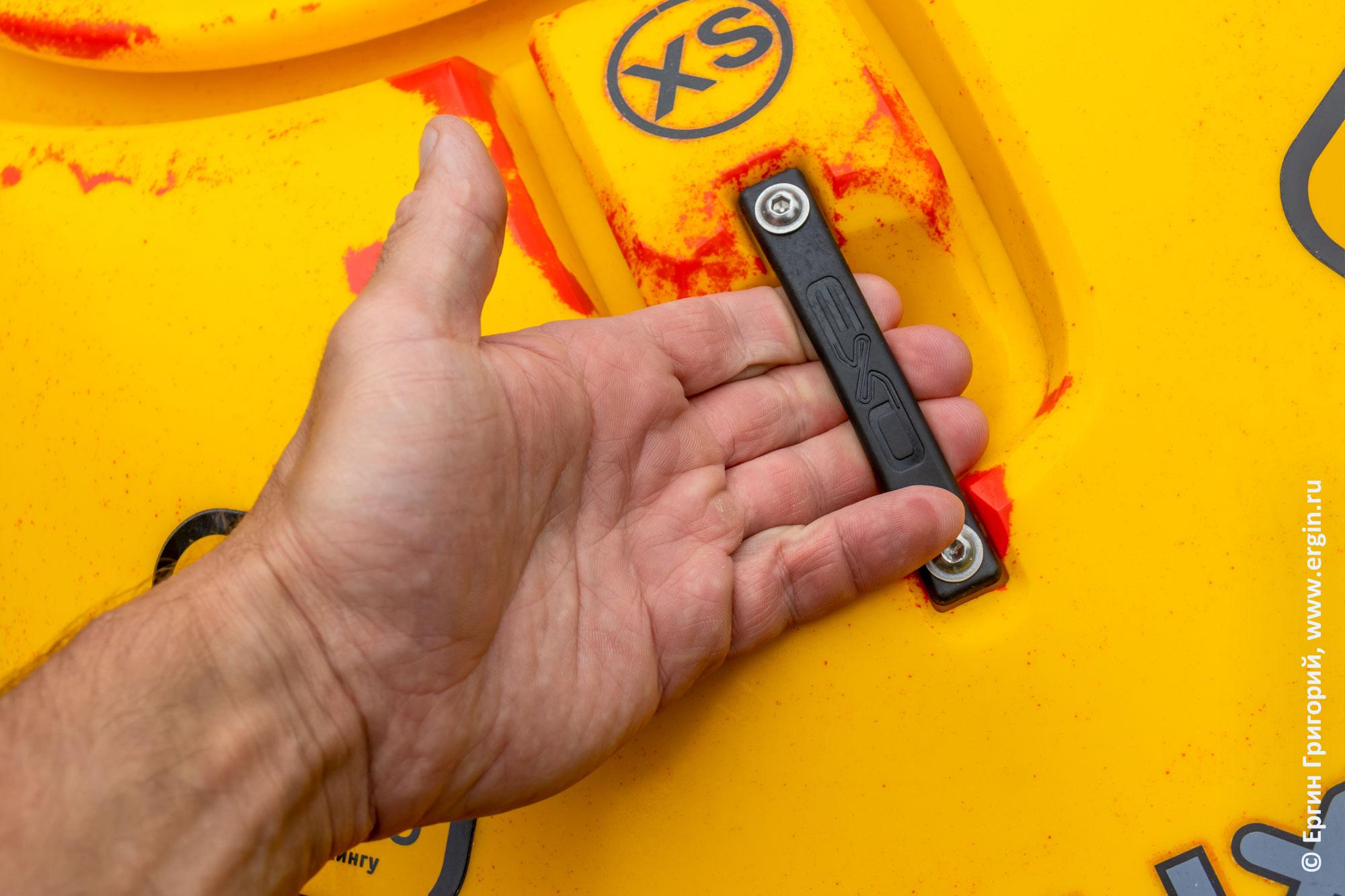 Ручка на корме EXO Guigui-prod Helixir XS  - кисть не входит до основания большого пальца